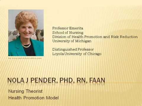 nola pender Dr nola pender developed the health promotion model (hpm) that is used universally for research, education, and practice the health promotion model focuses on helping people achieve higher.