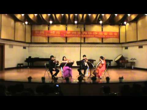 "Dang Hong Anh - ""Hoi Dem Ram"" string quartet by SongHong 2013 in Nanning China"