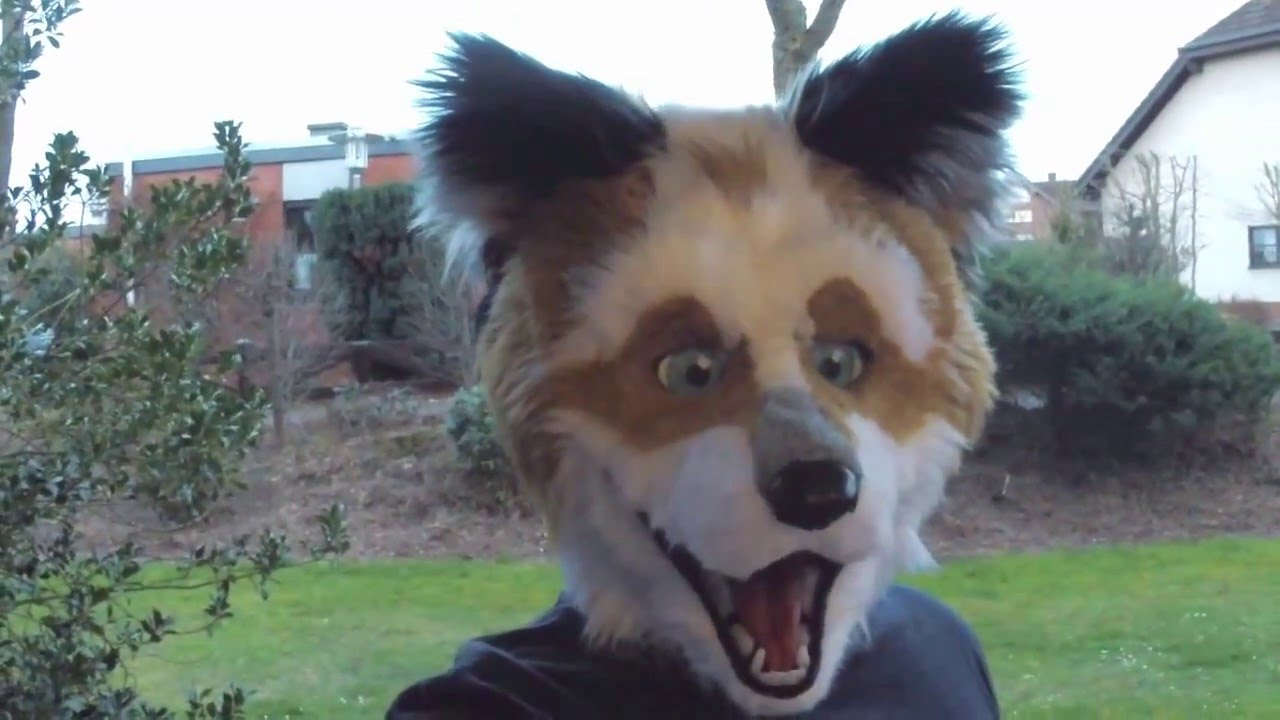 3d-printed fursuit head-base - animatronic test