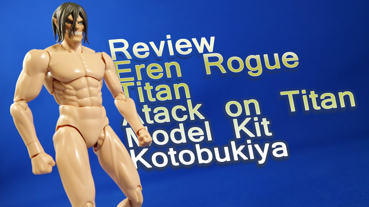 review eren rogue titan attack on titan model kit kotobukiya analisis espa u00f1ol