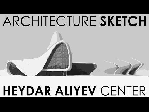 heydar aliyev center drawning / ARCHITECTURE SKETCH