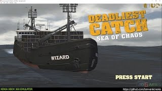 Xenia Xbox 360 Emulator - Deadliest Catch: Sea of Chaos ingame! (212cd6e/Jun 26 2016)