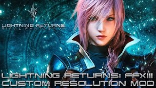 Lightning Returns: Final Fantasy XIII PC - Tutorial Custom Resolution Mod 1440p and 4K [1080p 60fps]