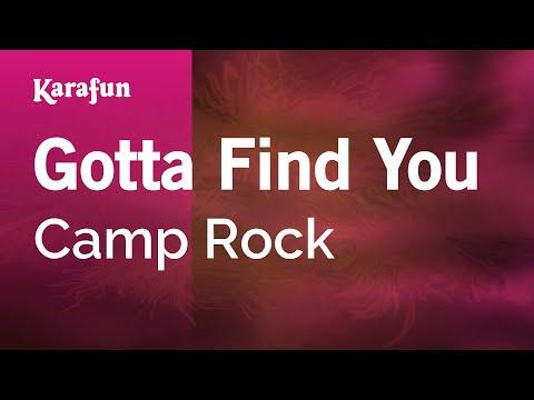 Karaoke Gotta Find You - Camp Rock *