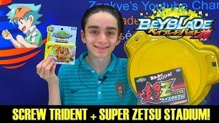 SCREW TRIDENT + SUPER ZETSU STADIUM! BATTLES AND UNBOXING!
