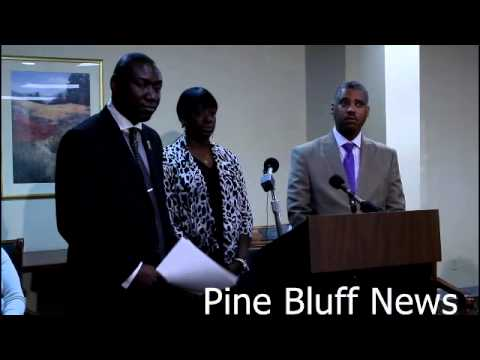 Attorney.Benjamin Crump in Pine Bluff 2 represent the family of Mr Monroe Isadore (107 year old man)