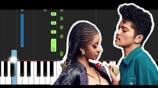 Cardi B & Bruno Mars - Please Me (EASY Piano Tutorial)