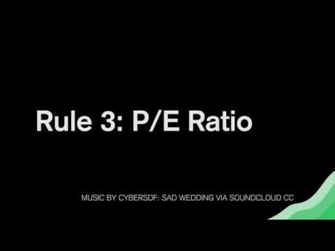 Value Investing Rules: How To Use The PE Ratio To Pick Stock