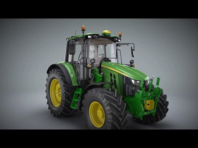 Animacja: nowa seria ciągników 6M | John Deere