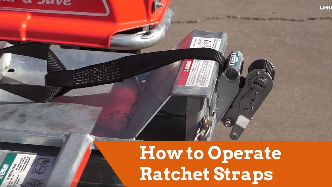 How to Operate Ratchet Straps on a U-Haul Tow Dolly or Auto Transport