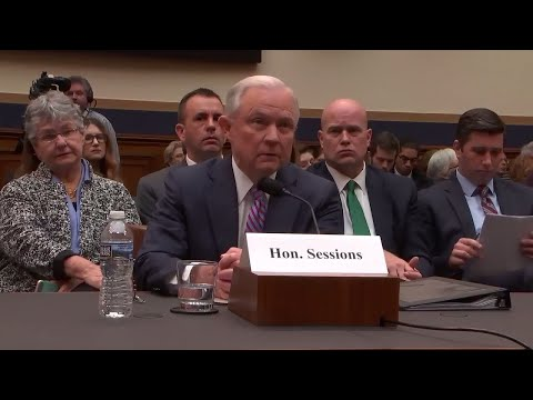 Jeff Sessions Questioned At The House Judiciary Committee Hearings