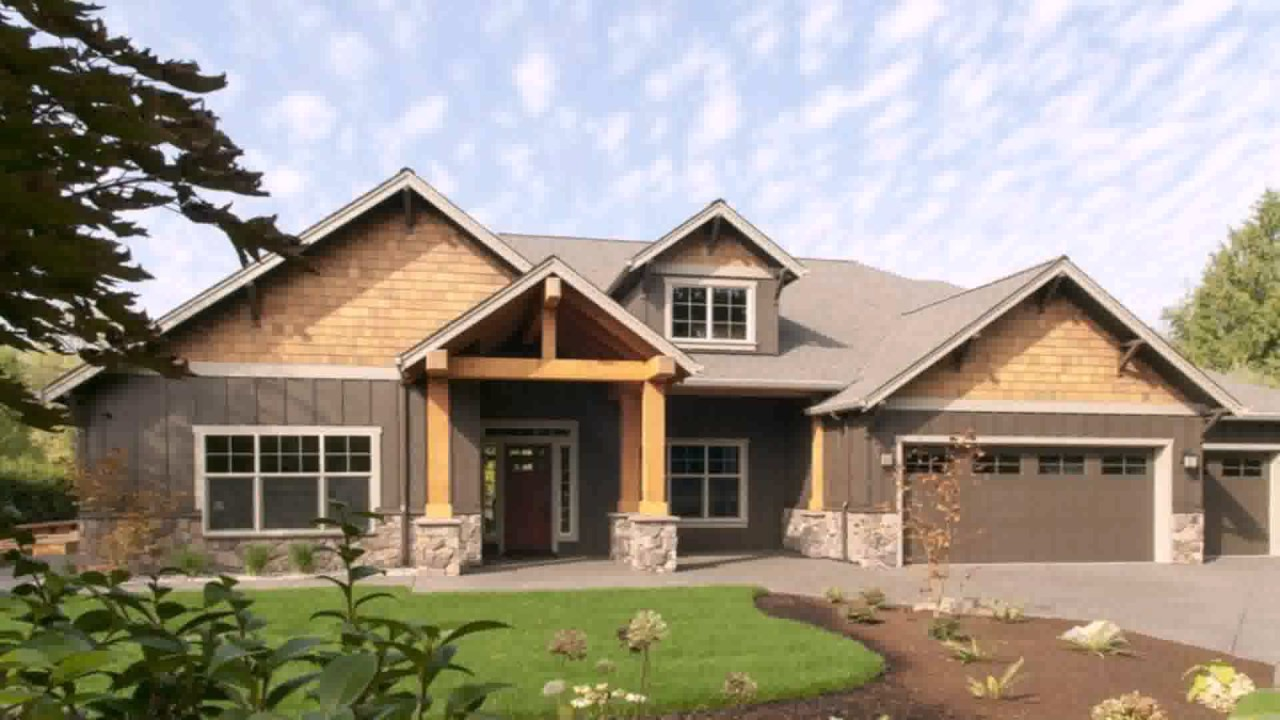 Prairie style house plans ranch youtube for Prairie home plans designs