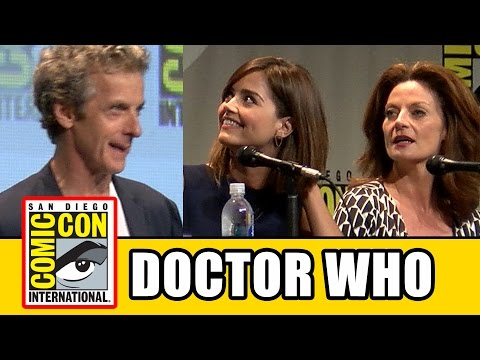 Doctor Who Comic Con Panel - Series 9, Peter Capaldi, Jenna Coleman, Michelle Gomez, Steven Moffat