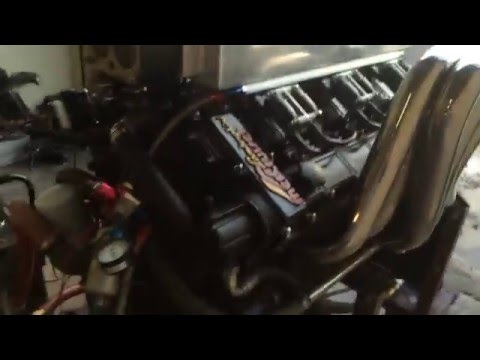 Marine V12 Lamborghini Force Fuel Injection first start