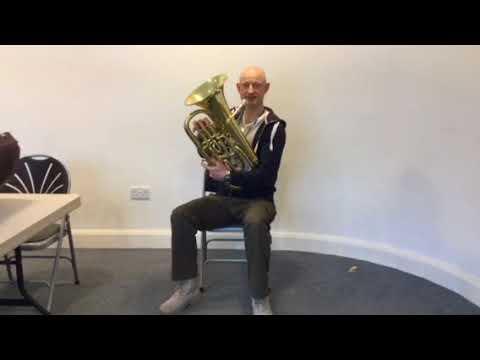 Euphonium baritone the note E
