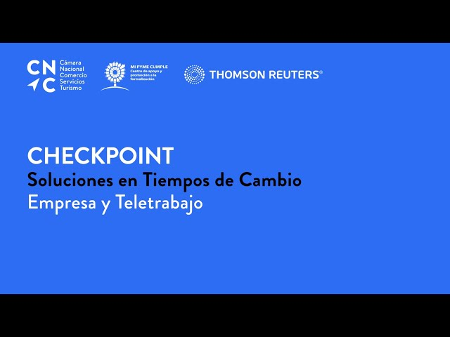 Checkpoint: Soluciones en Tiempos de Cambio -  Empresa y Teletrabajo