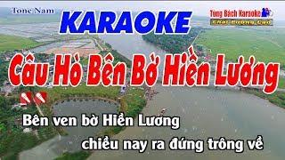 Câu Hò Bên Bờ Hiền Lương Karaoke 123 HD (Tone Nam) - Nhạc Sống Tùng Bách