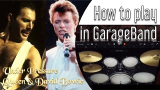 How to Play Queen - Under Pressure using iPad GarageBand