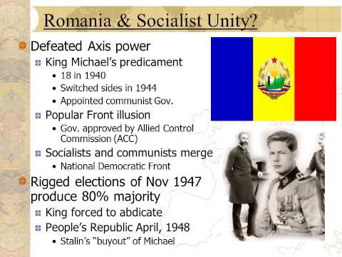 Cold War History Sample Lecture: Stalinization of Eastern Europe