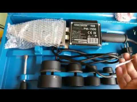 Обзор сварочного аппарата (паяльника) для полимерных труб Solaris PW-1500