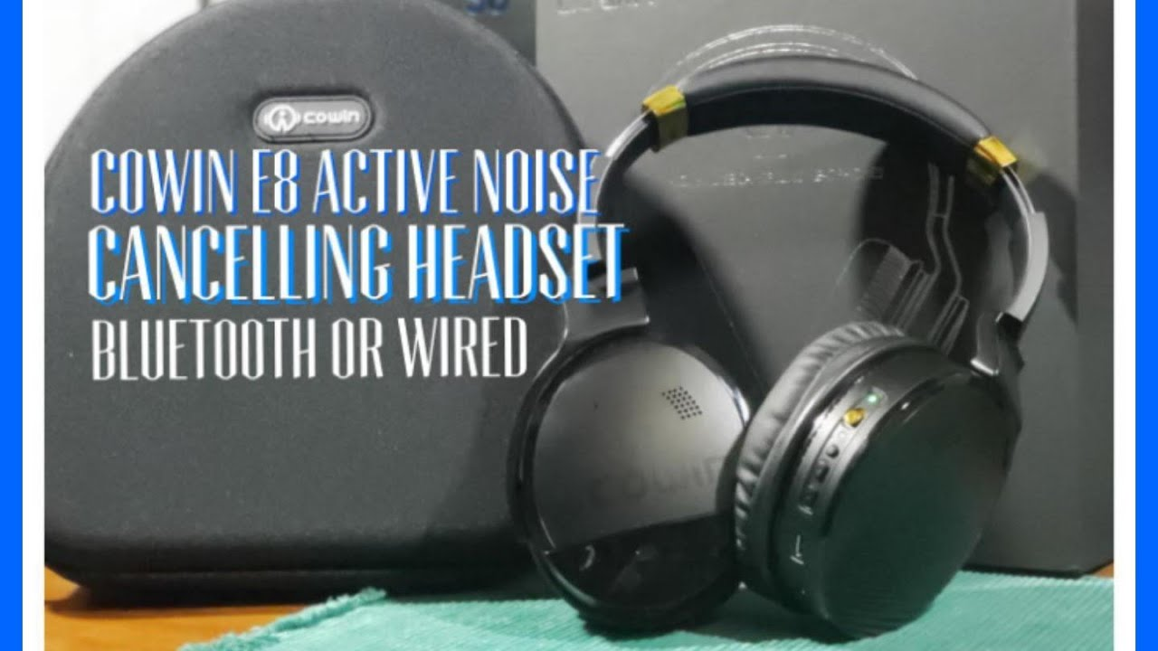 4afb40bc736 Cowin E8 Bluetooth Active Noise Cancelling Headphones Review - YouTube
