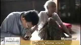 20080825 Tzu Chi's dist, rice seeds growing well in Myanmar