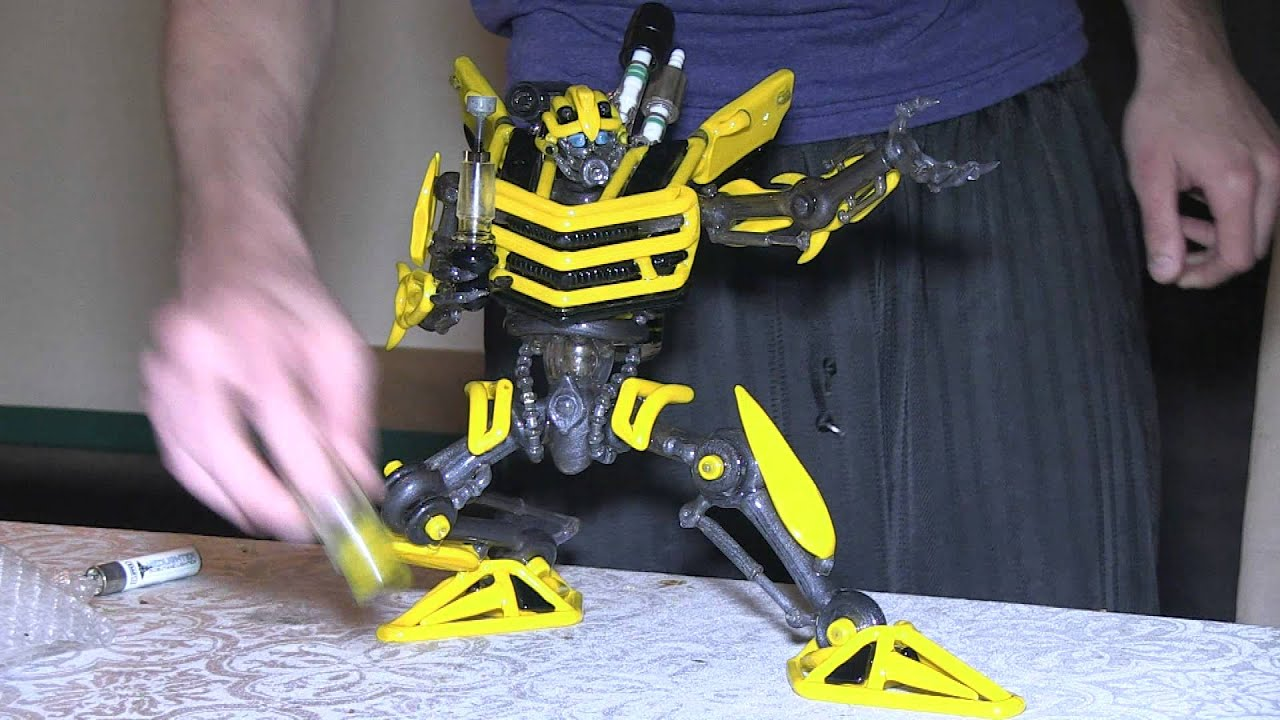 transformers bumblebee banjo hitman torch tube preview