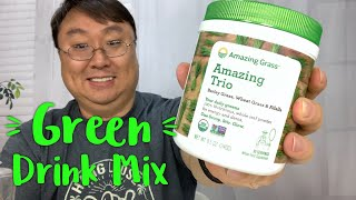 Green Drink Powder with Wheat Grass, Barley Grass and Alfalfa Review