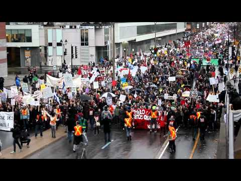 November 10, 2011 Quebec Students Protest Against Tuition Increase