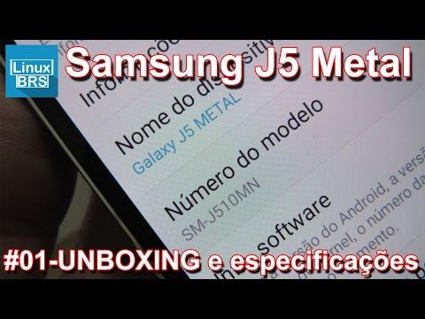 Samsung Galaxy J5 2016 METAL - TIRANDO DA CAIXA e especificações