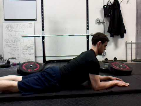 Sphynx position - Arm Extension with breathing