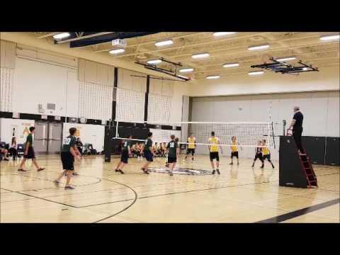 Luca #14 Garth Webb SS Oakville Jr volleyball 2016 season
