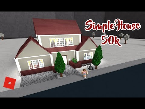 Roblox welcome to bloxburg speed build simple house for How to build a house for 50k