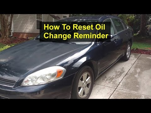 How To Reset The Service / Maintenance Light Message Reminder In Chevy Impala Service Light. - VOTD