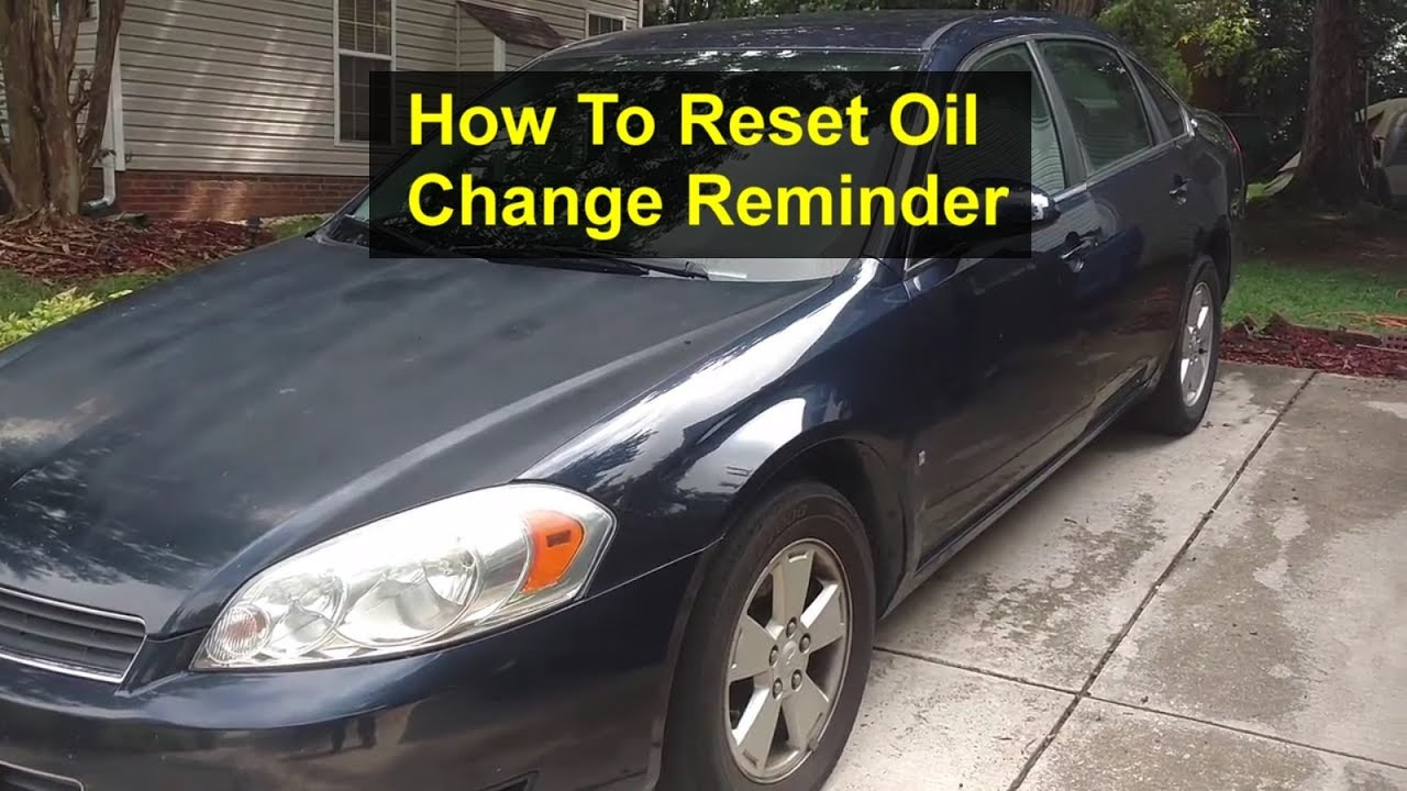 How To Reset The Service Maintenance Light Message Reminder In Chevy Impala Votd