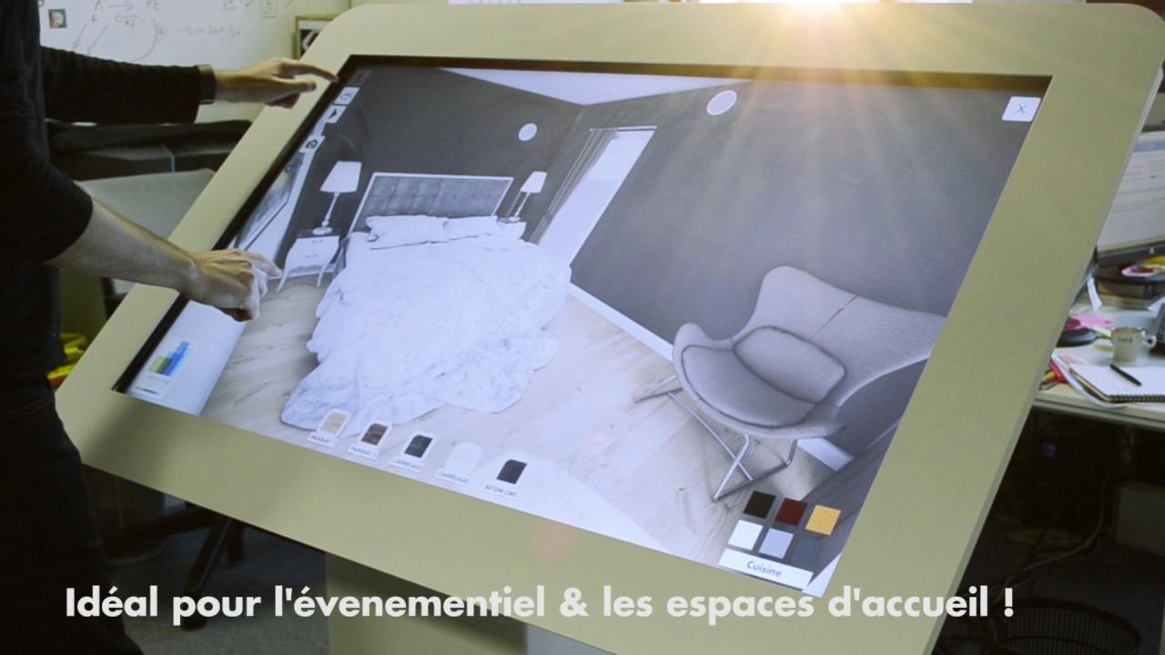 Demo D Une Maquette Virtuelle 3d Interactive Sur Table Tactile Elecom