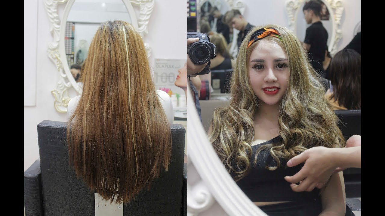 Trai đẹp Hùng Trần nhuộm màu tóc light vàng sành điệu cho cô nàng ưa tiệc tùng