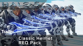 Halo 5 : Guardians – Classic Helmet REQ Pack (Trailer)