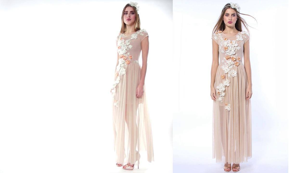 3205bd83 Królowa Bajka - ręcznie haftowana suknia ślubna / wieczorowa