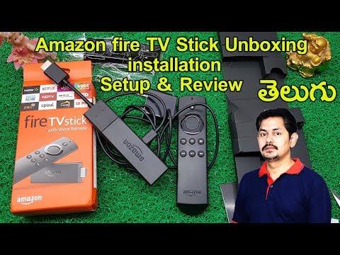 Amazon fire TV Stick: Unboxing, installation, Setup & Review   in Telugu  Tech-Logic