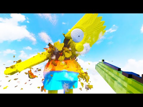 I Blew Up Bart Simpson with Massive Guided Rockets in Teardown!