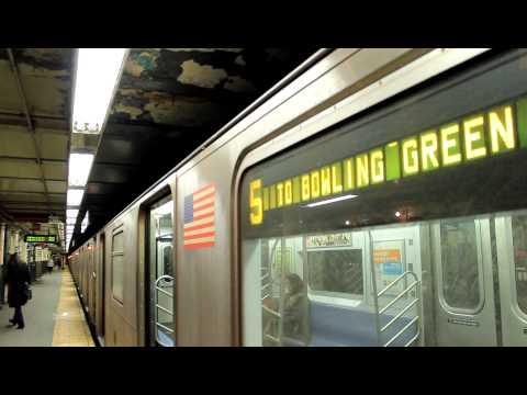 IRT Subway: Bowling Green Bound R142A (5) Train at Wall St.
