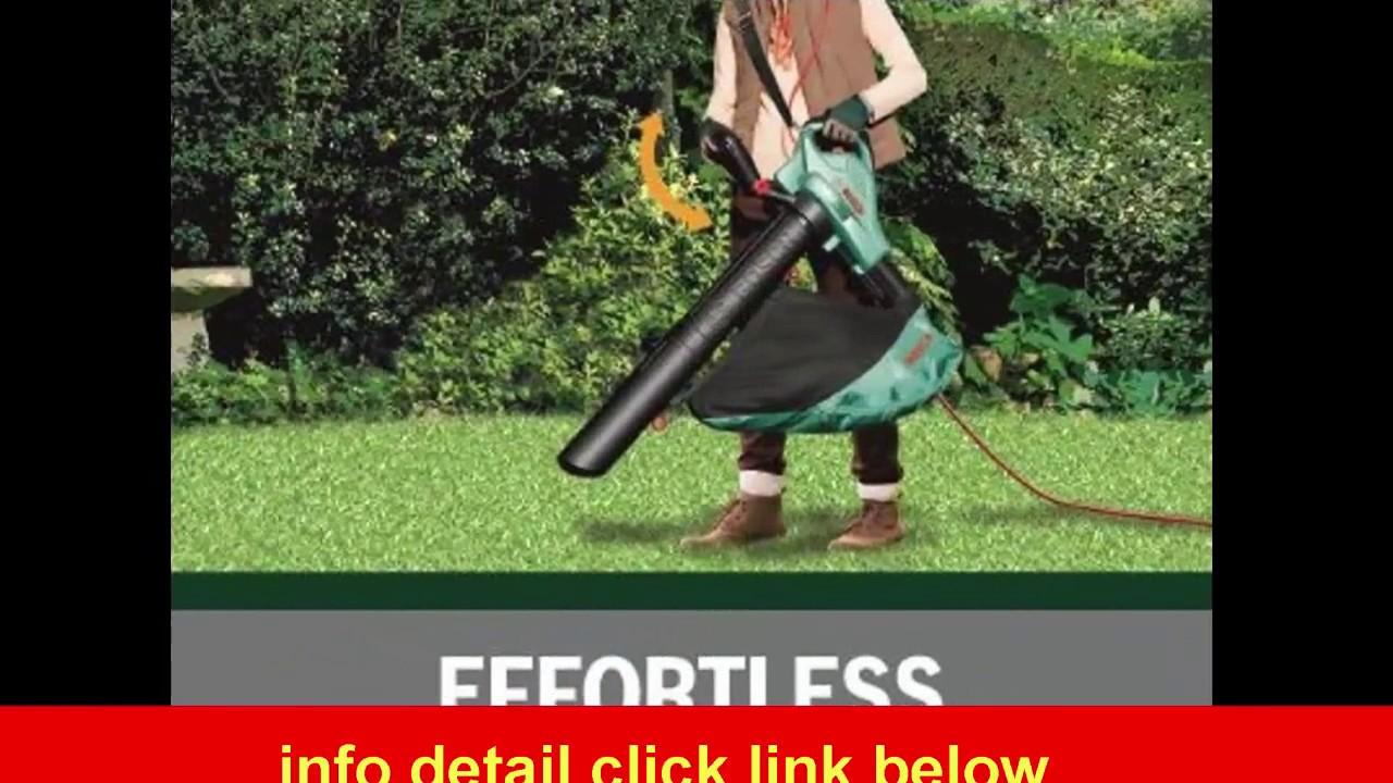 bosch als 2500 electric garden blower vacuum youtube. Black Bedroom Furniture Sets. Home Design Ideas