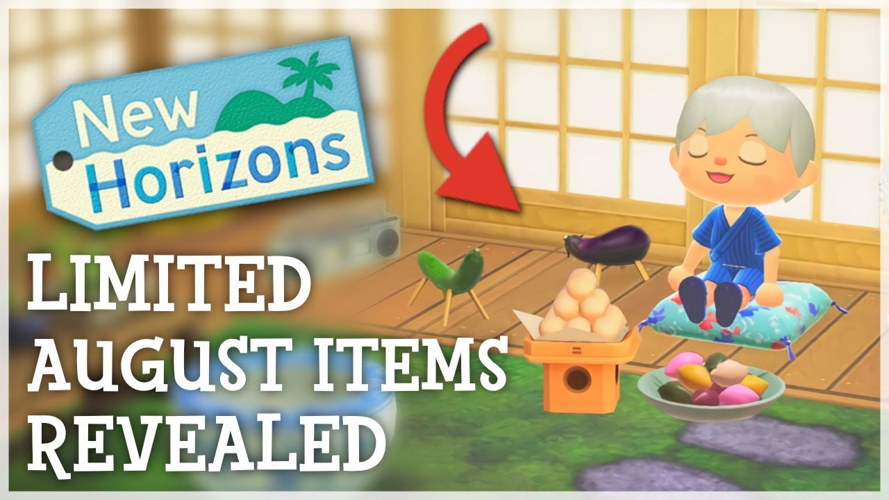 Animal Crossing New Horizons - 9 LIMITED August Items REVEALED (ACNH 1.11 Update)