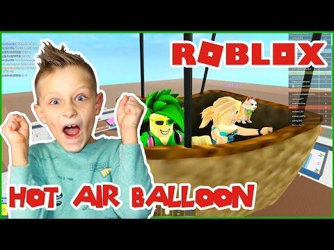 Riding a Hot Air Balloon / Roblox Highschool