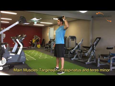 SHOULDER EXERCISES Standing Cable External Rotation At 90 Degrees