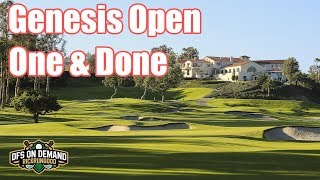 Genesis Open One & Done 2019 - DraftKings