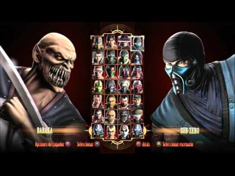 Mortal Kombat 9: Selección de Personajes