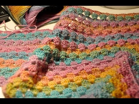 How to Crochet * Half Granny Square Triangle Scarf - YouTube