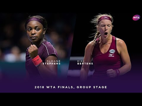 Sloane Stephens vs. Kiki Bertens | 2018 WTA Finals Singapore Round Robin | WTA Highlights